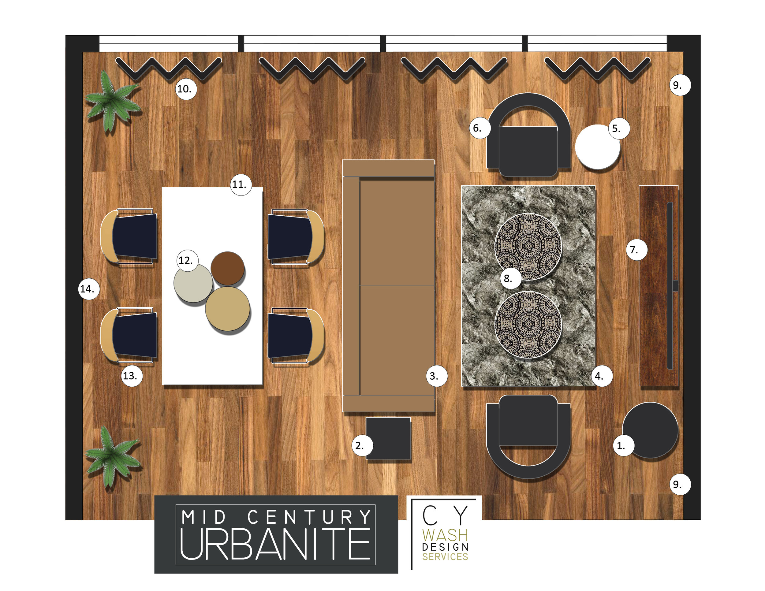 2D RENDERED FLOOR PLAN - Starting at250.00 per plan*Pricing varies based on size of the space and scope of work