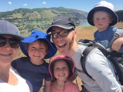 Me and the fam, on our first hike with no whines. It only took 7 years.