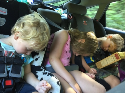 """A recent parenting win when all three fell asleep at the same time after a full day of fun. I know you get how awesome this is as a parent ;)  And sometimes we need to share our wins with those who """"get it"""""""