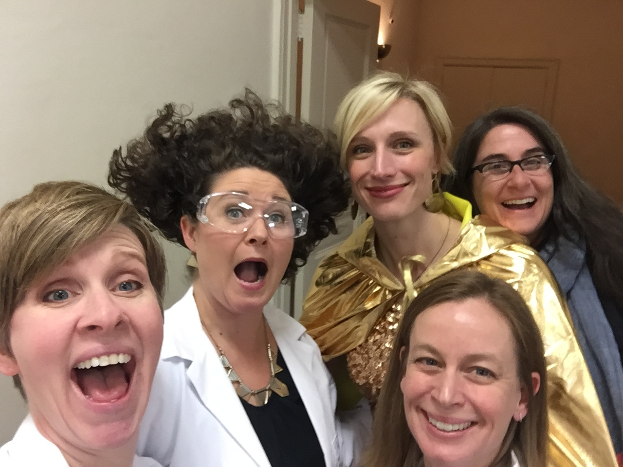 Thankful for this crew to pull off the event! And glad my hair cooperated to make me look like a mad scientist! (theme was Mad About Science!)