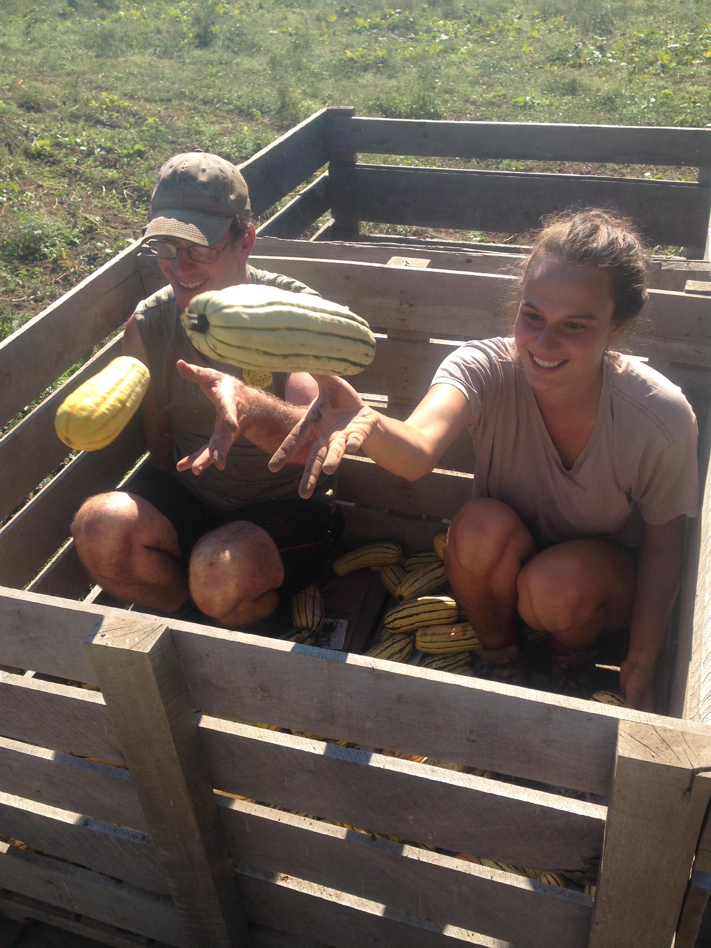 Farmer Dan and Farmer Zoe