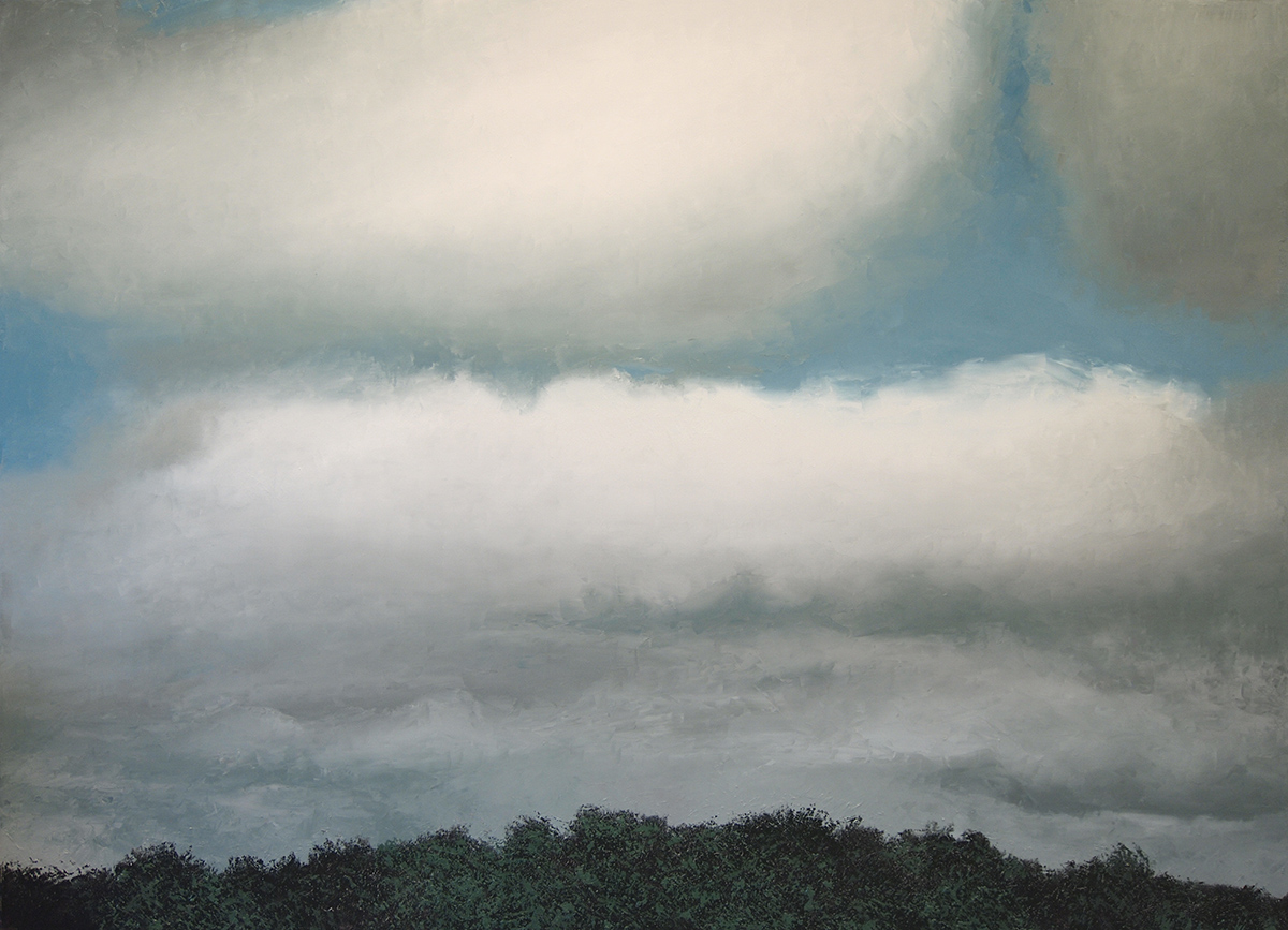 "Stratus Nebulosus, oil on canvas 43 3/4"" x 63"""