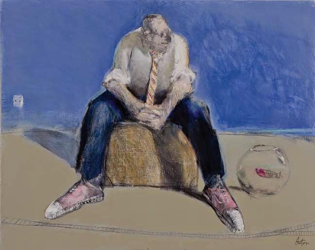 """Raconte moi l'ocean oil on canvas 28 3/4"""" x 36"""""""