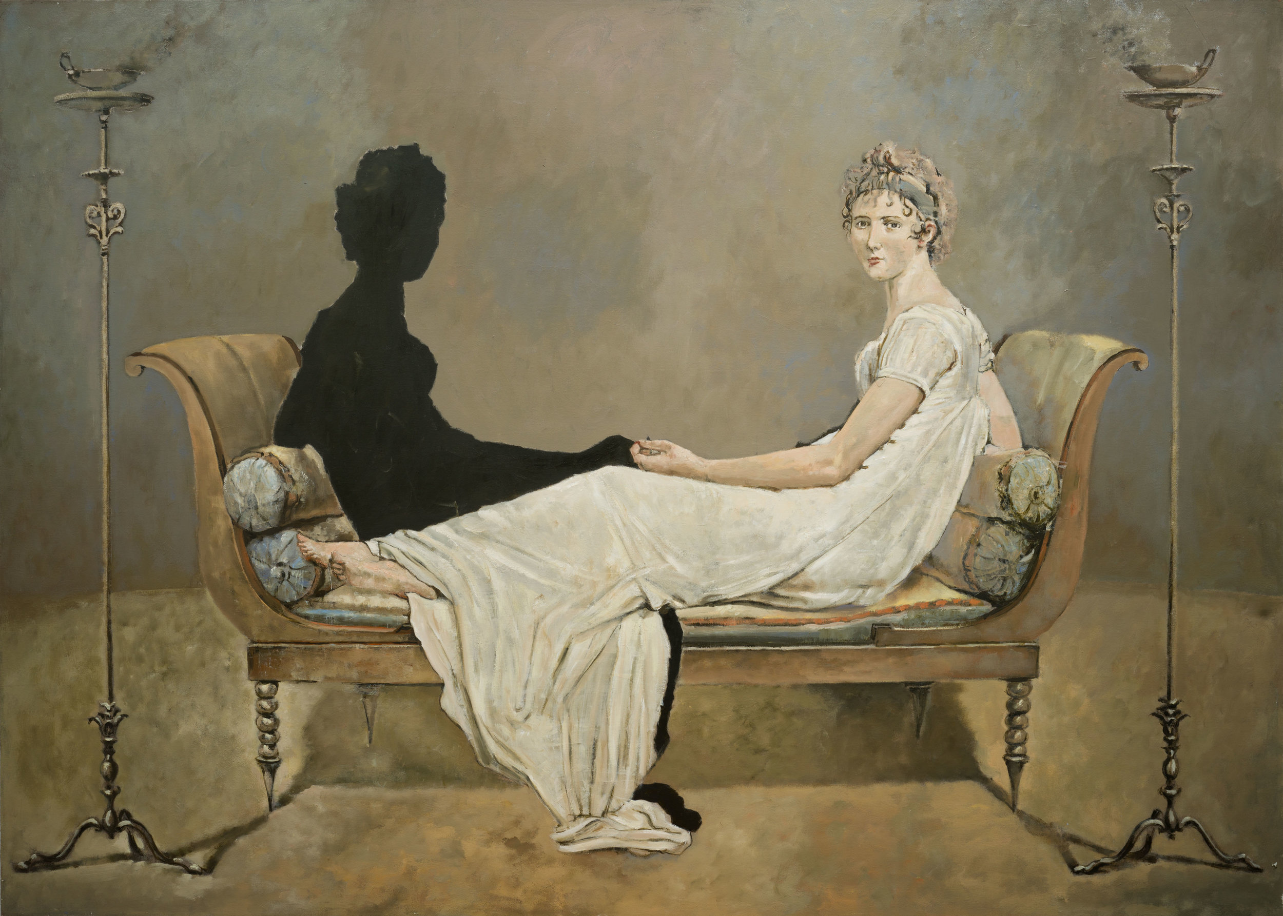 Conversation, oil and silver on canvas, 55x77 in (1).jpg