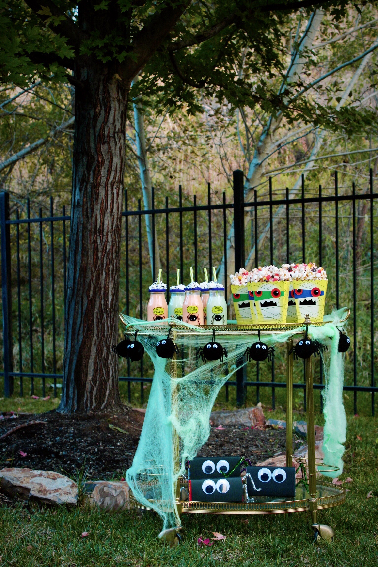 Halloween Bar Cart Kids Outdoor Movie Night Design Organize Party.jpg