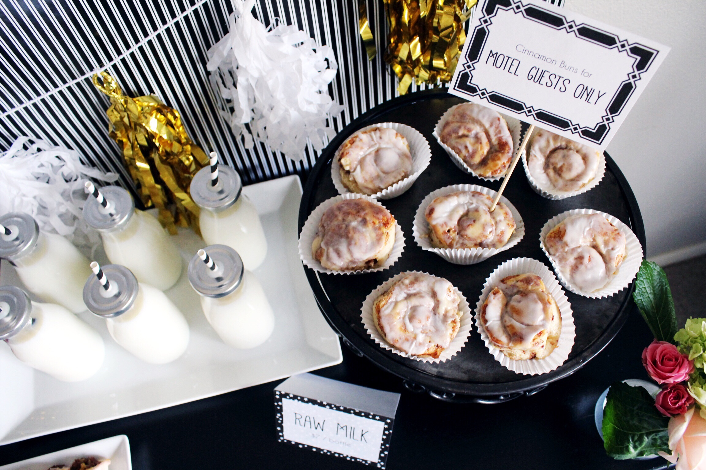 Schitt's Creek_Party Ideas_Food_Cinnamon Buns Rolls_Raw Milk_Design Organize Party.jpg