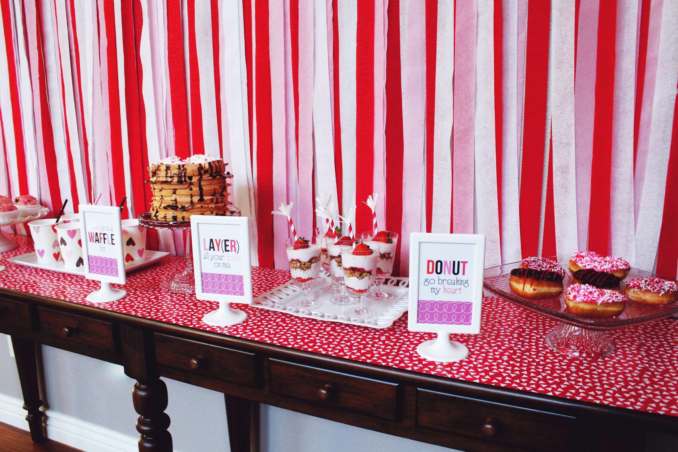 Valentine's Day Breakfast Party Inspiration Ideas_DOnuts_Waffles_Milk_Design Organize Party.JPG