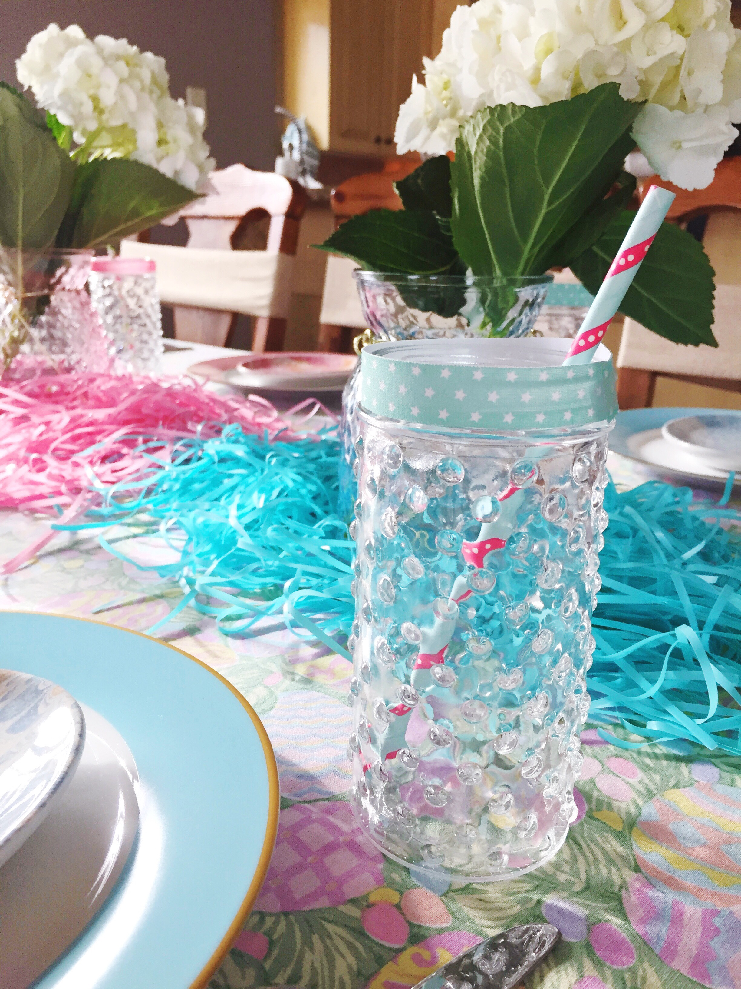 Easter Party Table Ideas_Hobnail Glasses_Paper Straws_Target_Design Organize Party.JPG