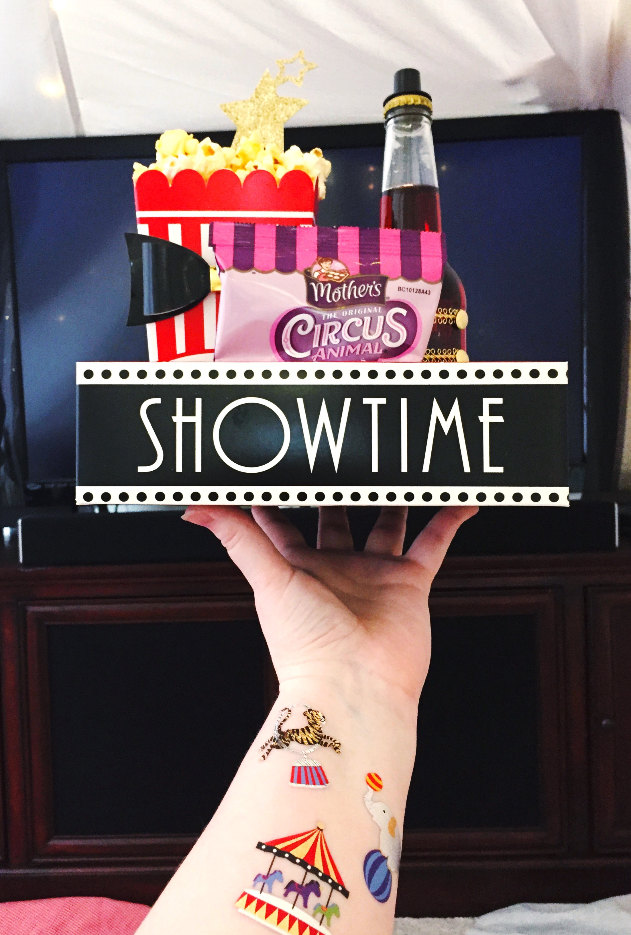 The Greatest Showman Movie Party_Food Concessions Tray_Circus Flash Tattoos_Fun tats.JPG