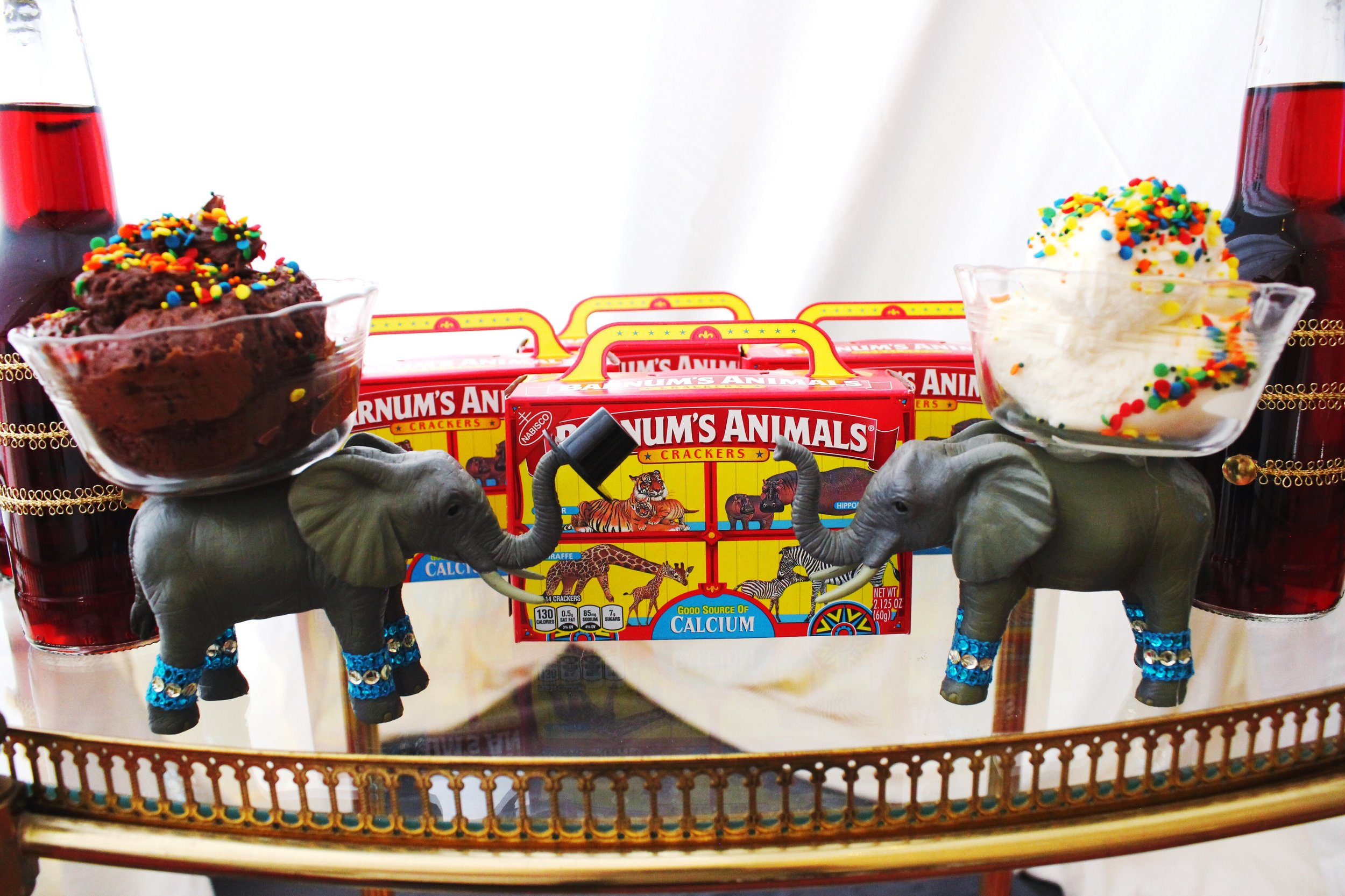 The Greatest Showman Movie Party_Circus Elephants_Barnum Animal Crackers_Frosting.JPG