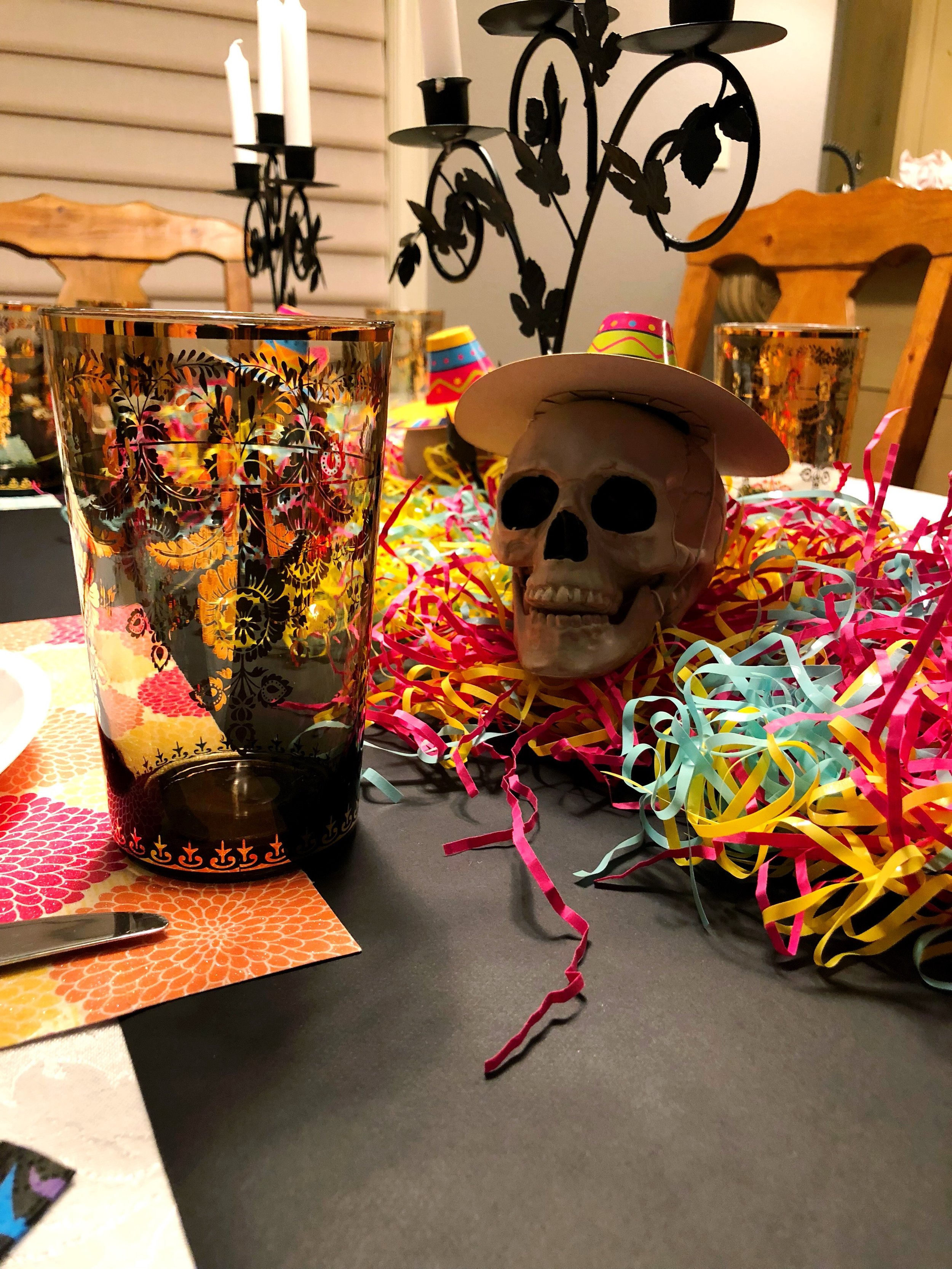 Dia De Los Muertos Table Decorations_Skull Sombrero_Design Organize Party.jpg