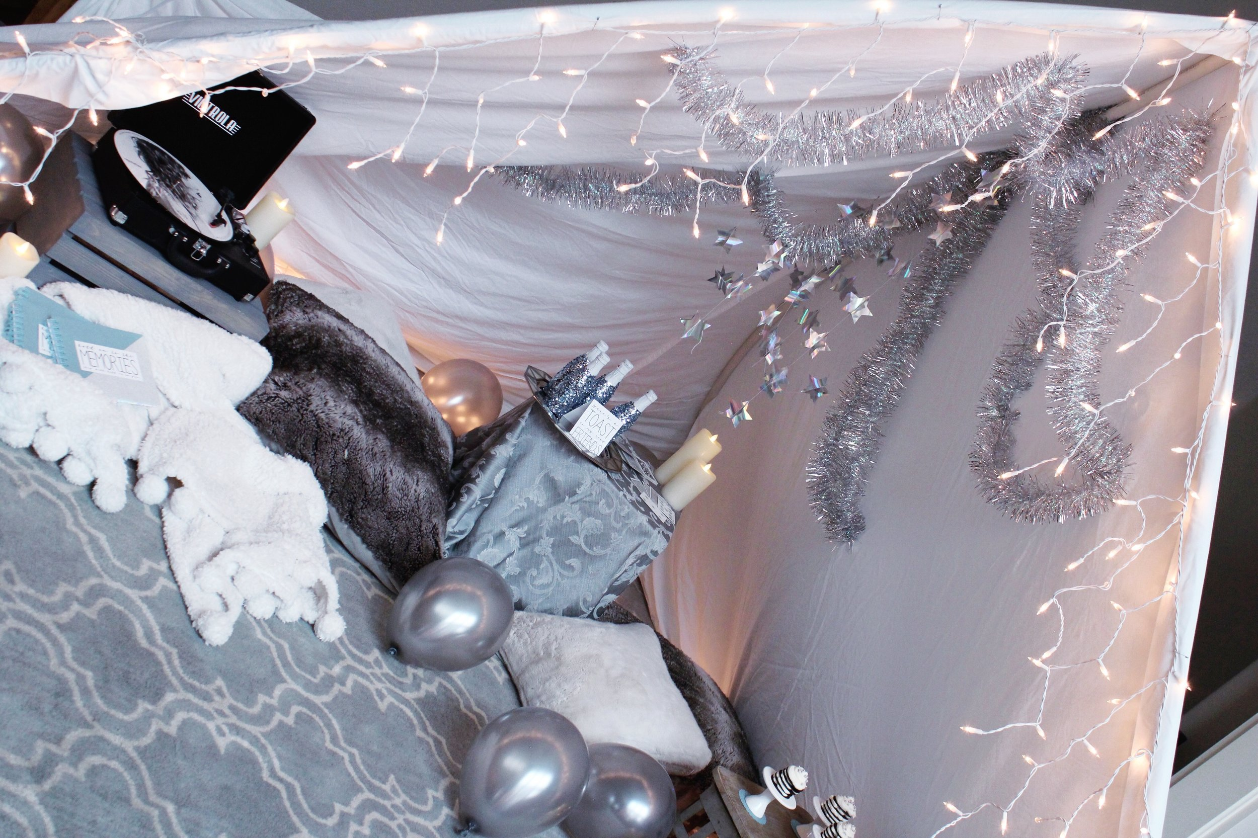Reputation Taylor Swift New Year's Eve Blanket Fort Decor_Design Organize Party.JPG