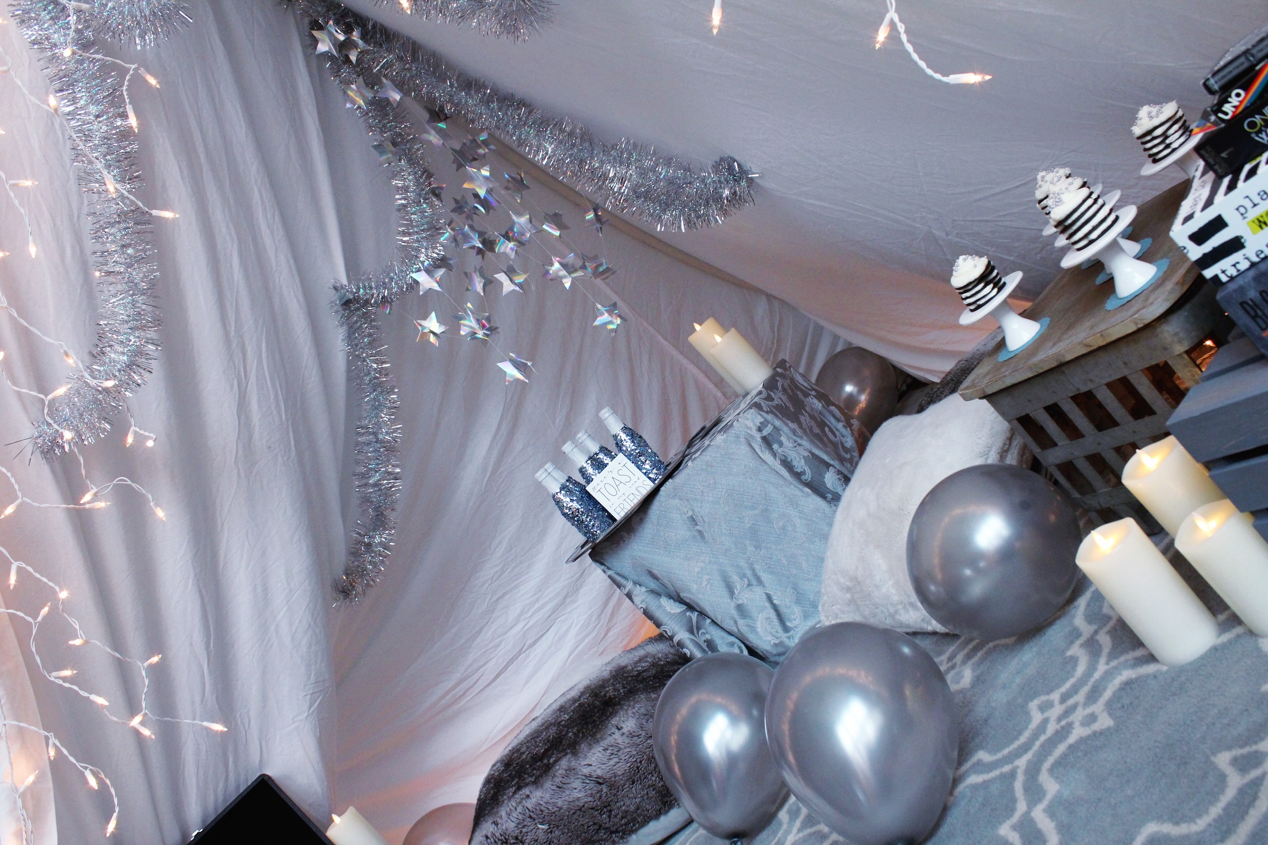 New Year's Eve Taylor Swift Reputation Blanket Fort Decorations_Design Organize Party.JPG