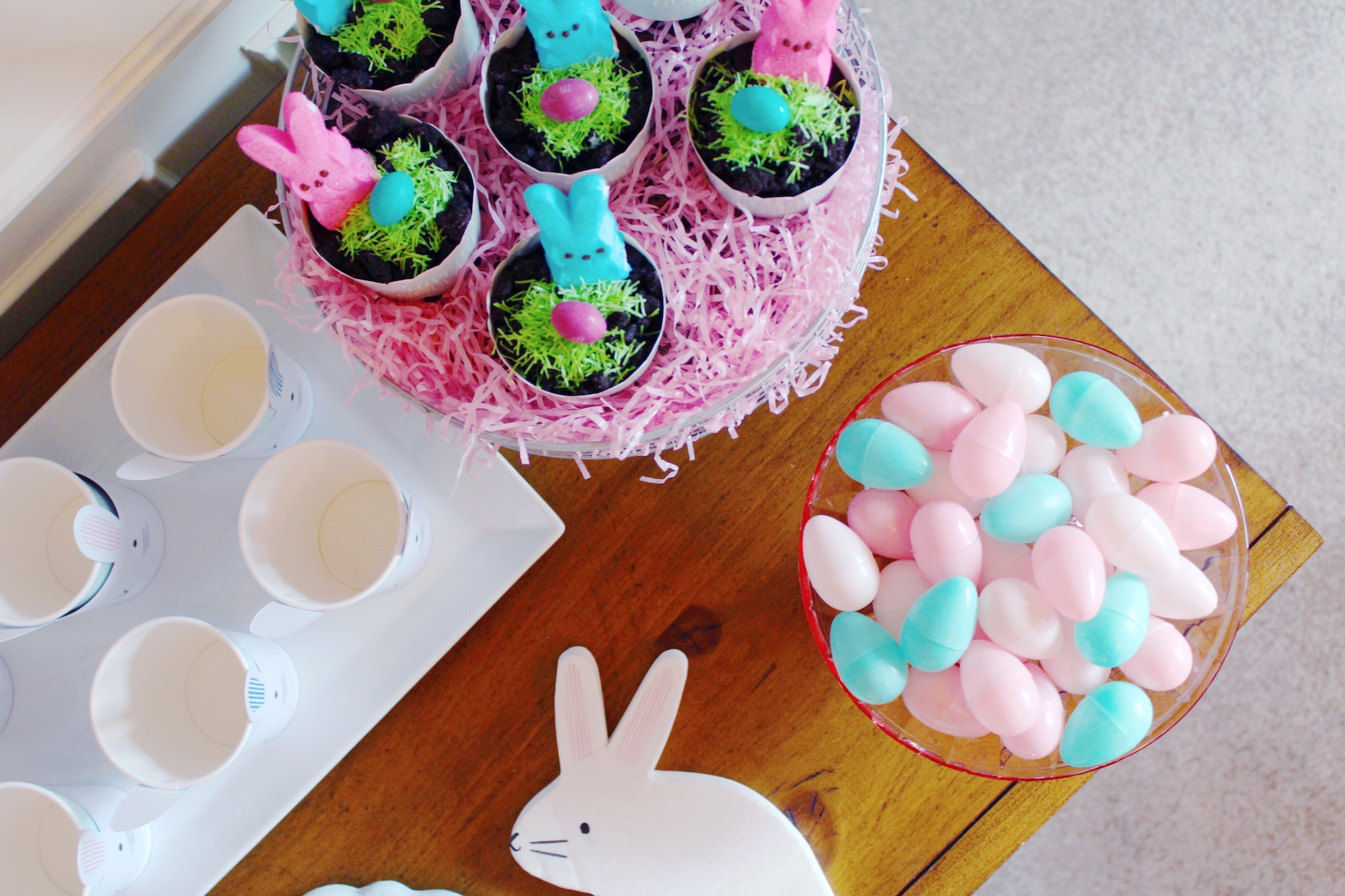 Easter Bunny Sweet Party_Peep Dirt Pudding Cups_Design Organize Party.JPG