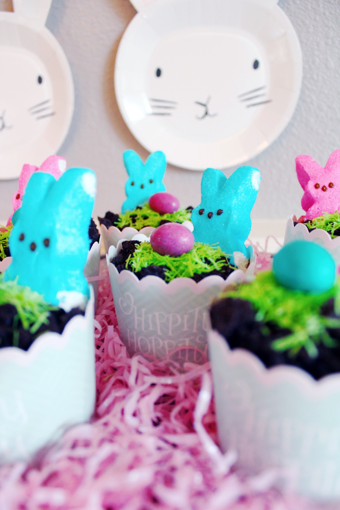 Easter Party Dessert_Peep Dirt Pudding Cups-Design Organize Party.JPG