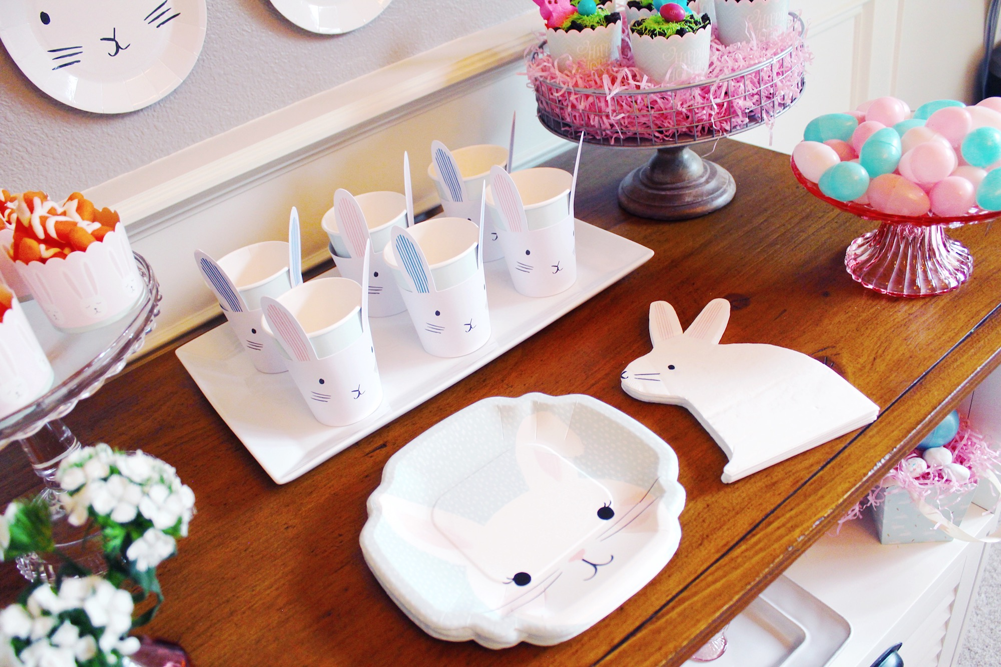Easter Party Paper Goods_Bunny Plates Cups Napkins_Design Organize Party.JPG