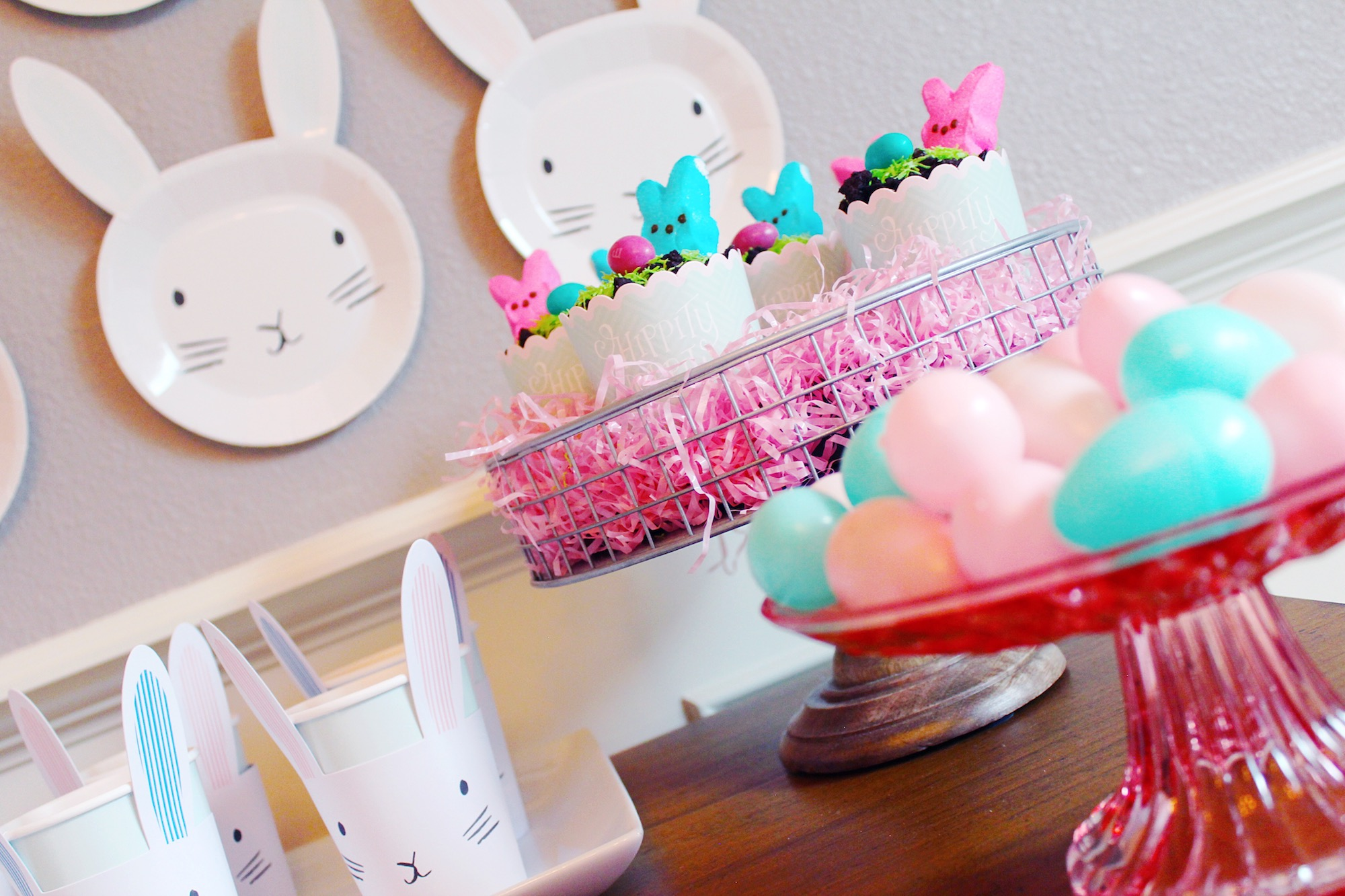 Easter Party_Dessert Bar_Peep Pudding Dirt Cups_Design Organize Party.JPG