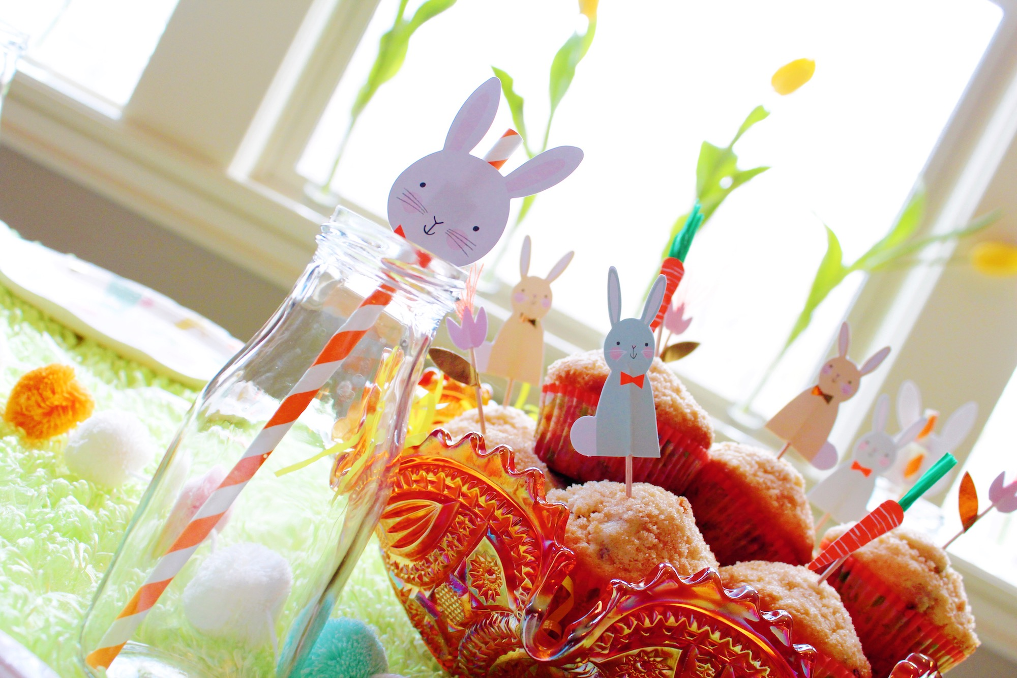Easter bunny breakfast_Rabbit straws_Egg Hunt Muffins_Design Organize Party.JPG