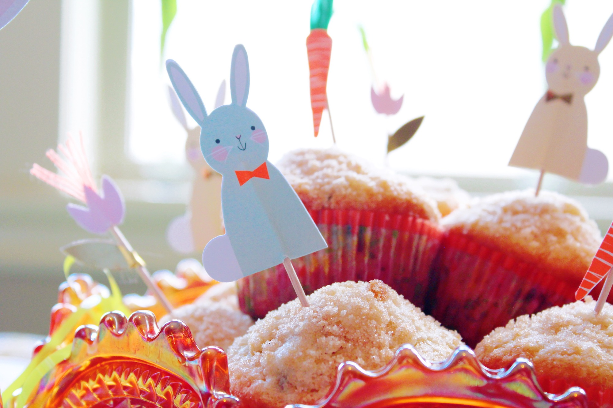 Easter Bunny Cupcake Topper_Easter Morning Breakfast Muffin_Design Organize Party.JPG