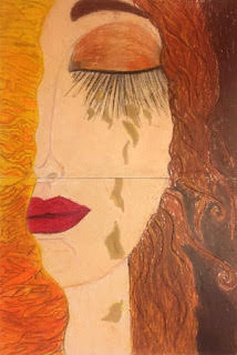 Artwork inspired by Gustav Klimt