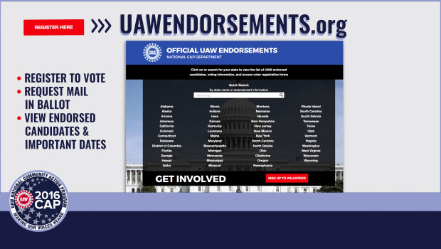 uaw endorsements 2016 elections