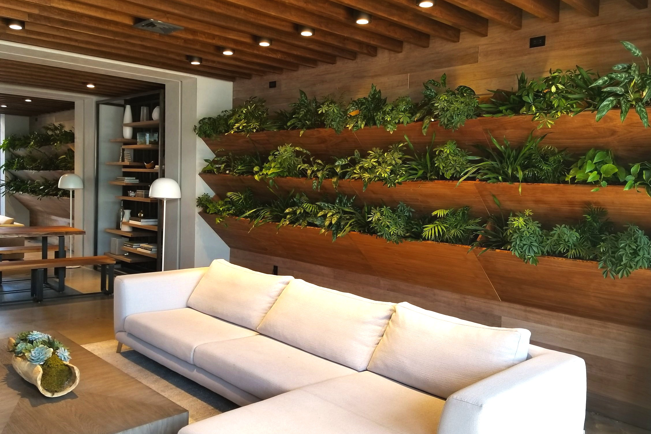 Interiors - We design and install interior green walls and unique plantscapes for residential and commercial spaces.