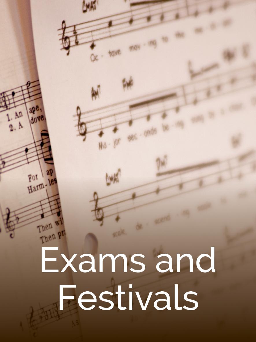 Preparing for music exams
