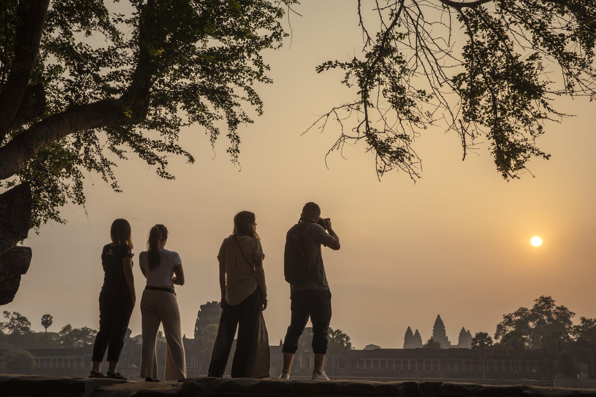 Cambodia Siem Reap Angkor Wat Sunrise Travellers CEO Taking Photo - Oana Dragan 2019 _T4A0562 Lg RGB.jpg