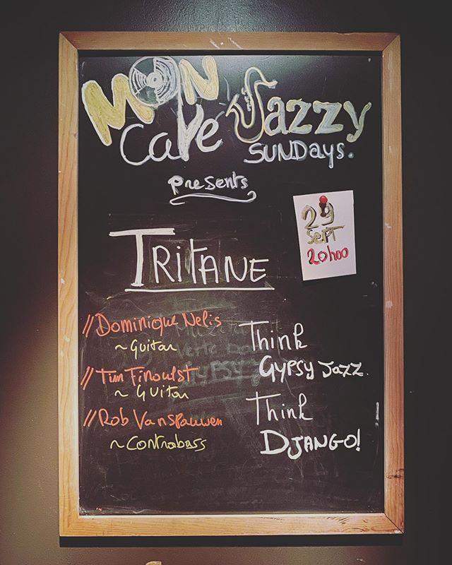 Vanavond Gypsy jazz met Tritane in @mon_cafe_hasselt !