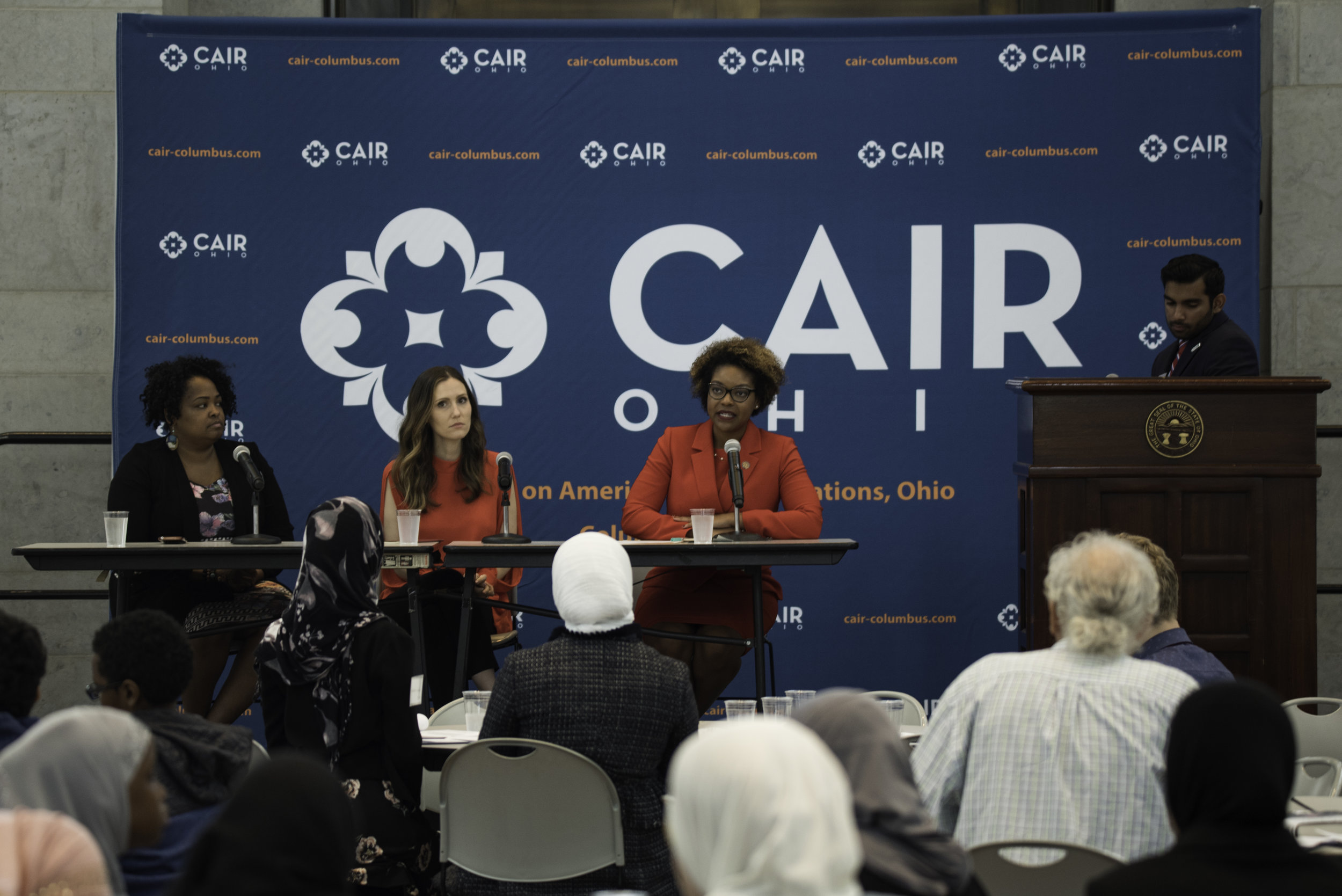 Panel with Ohio Representative Stephanie Howse, Ohio Representative Emilia Sykes, and Columbus City Council Member Elizabeth Brown.