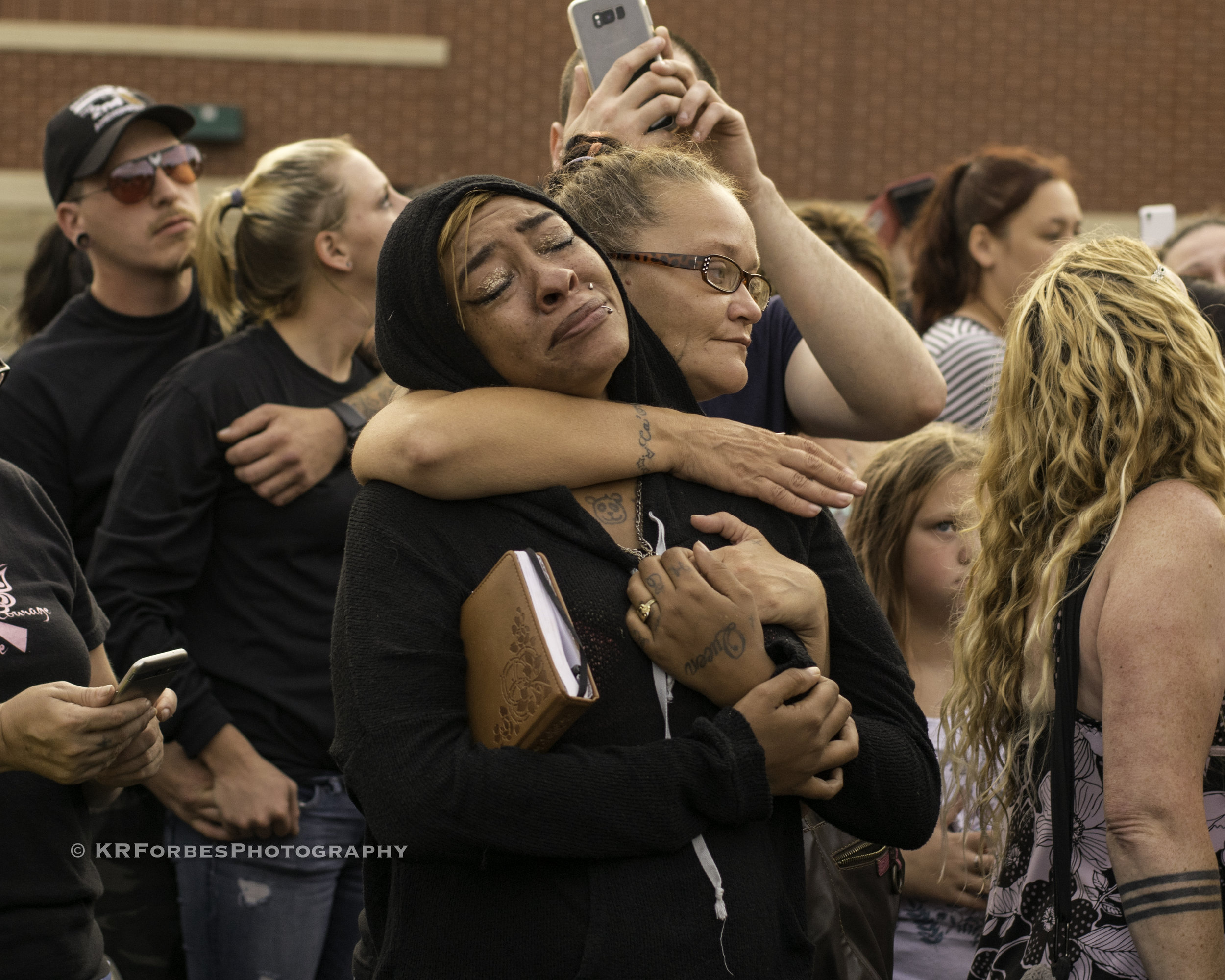 Donna Dalton Memorial; Columbus, OH - Community members join friends ands family of Donna Castleberry (Dalton) after Officer Andrew Mitchell, who was already under investigation, shot and killed her during an unauthorized stingclick image to view moreclick HERE for more information
