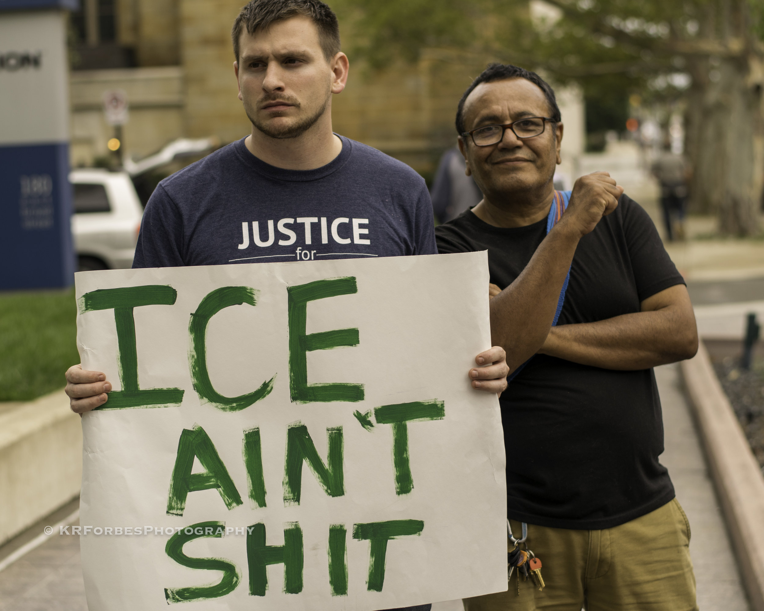 I.C.E - Columbus residents gather in opposition of the rampant ICE raids of 2018click image to view more