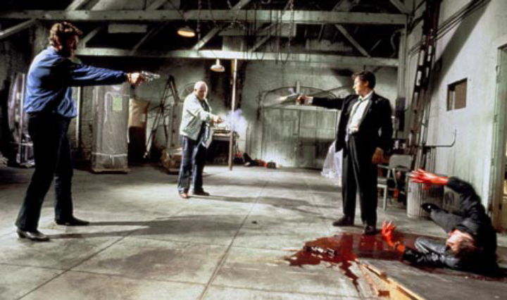 [scene from  Reservoir Dogs  directed by Quentin Tarantino]