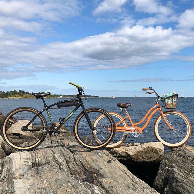a little bit beach cruiser. a little bit mountain bike. a whole lot of exploring at Odiorne Point State Park. #WeGoWhereBeachCruisersDontGo #NeverGonnaHoldYouBack #GraffitiWithABitOfBicycle