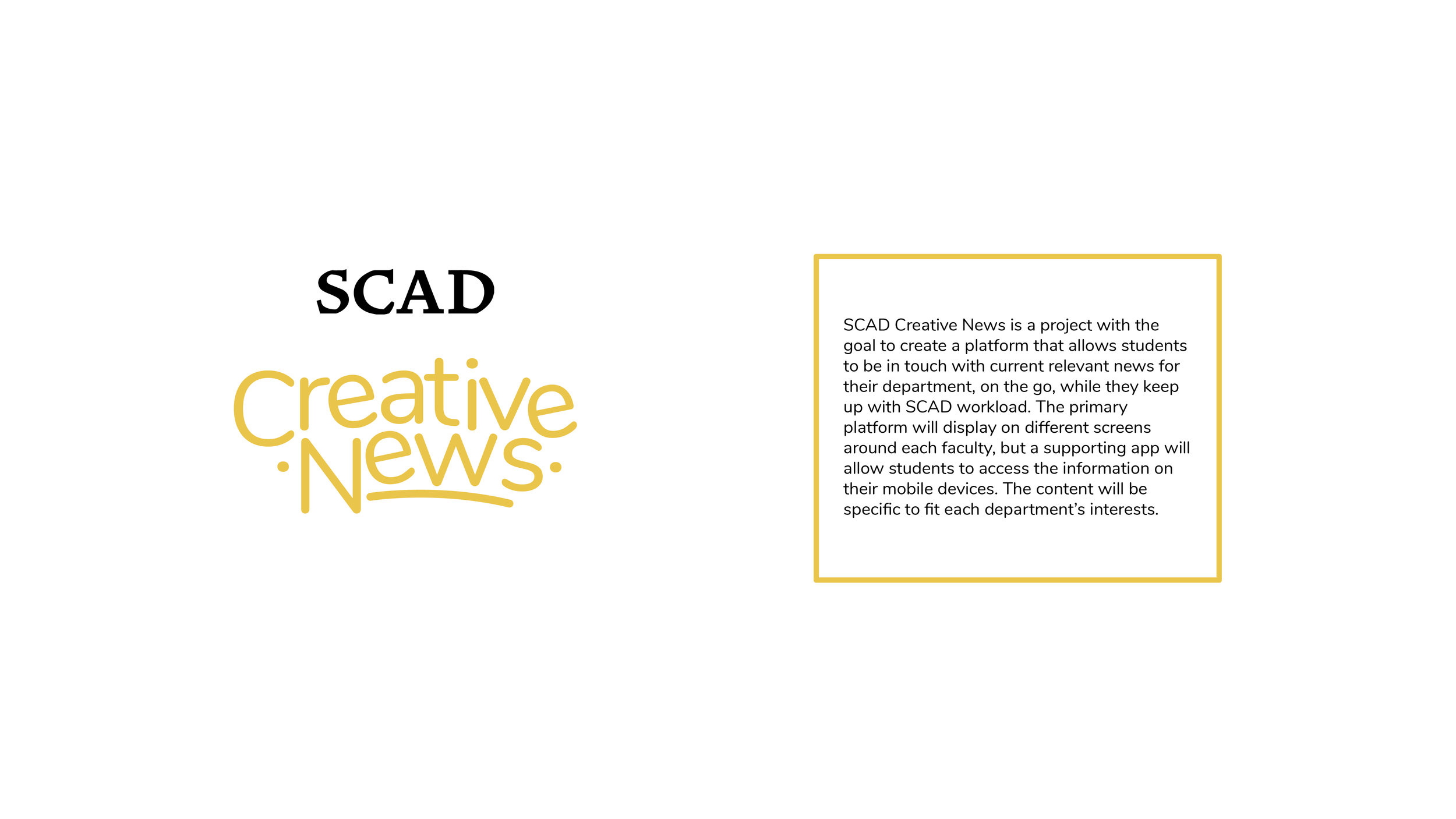 SCAD Creative News App