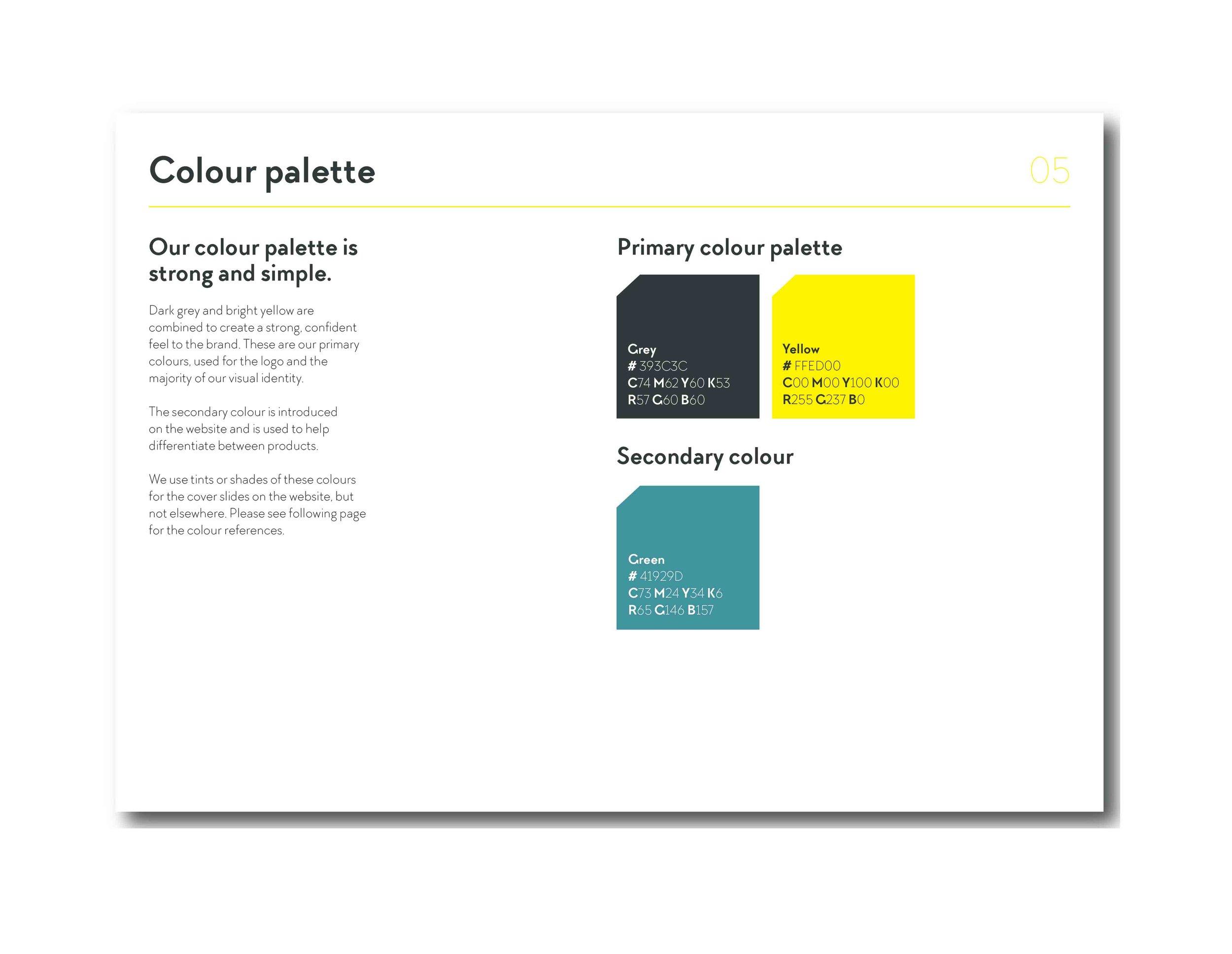 Brand guidelines / Colour palette