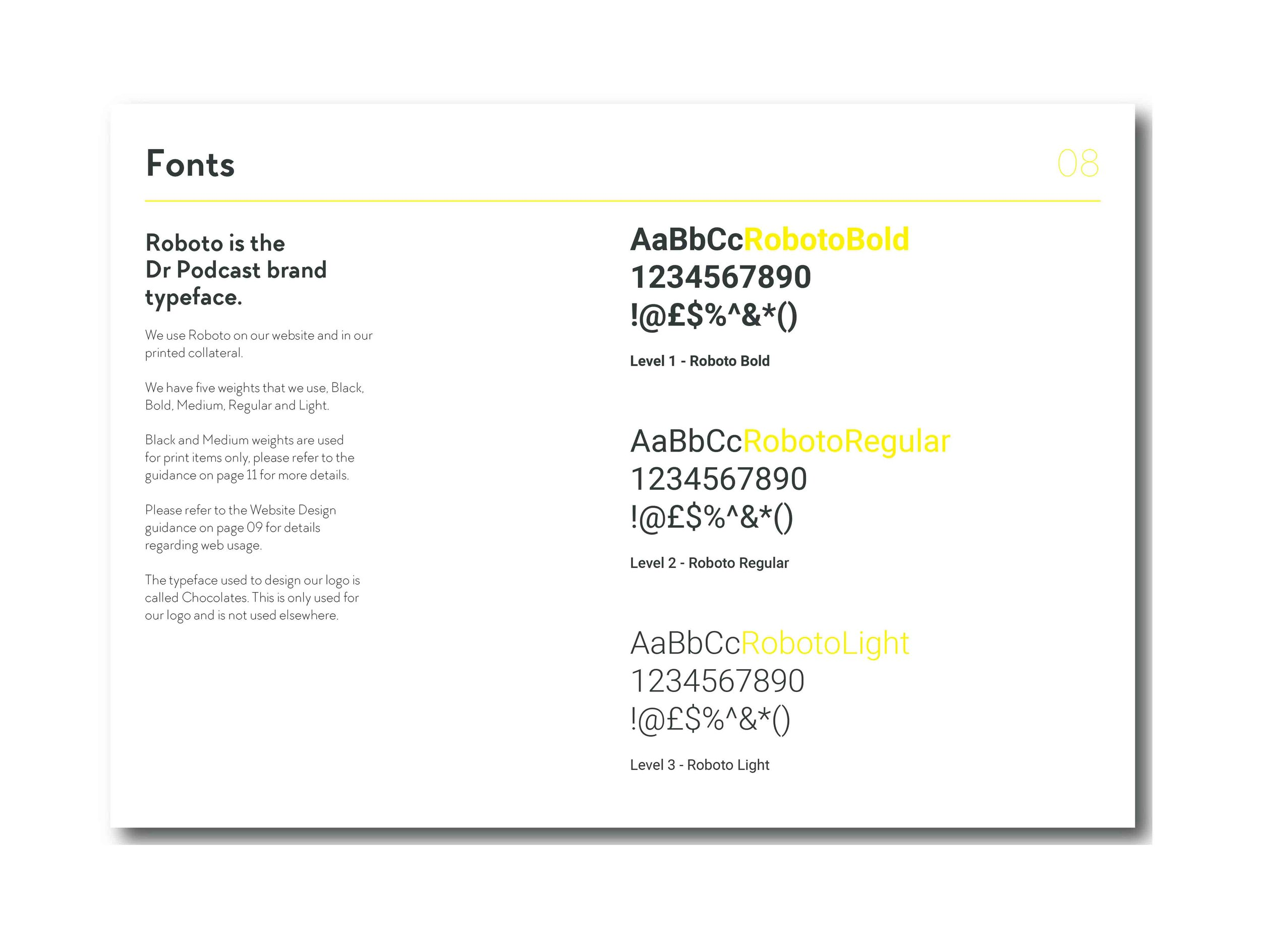 Brand guidelines / Typography