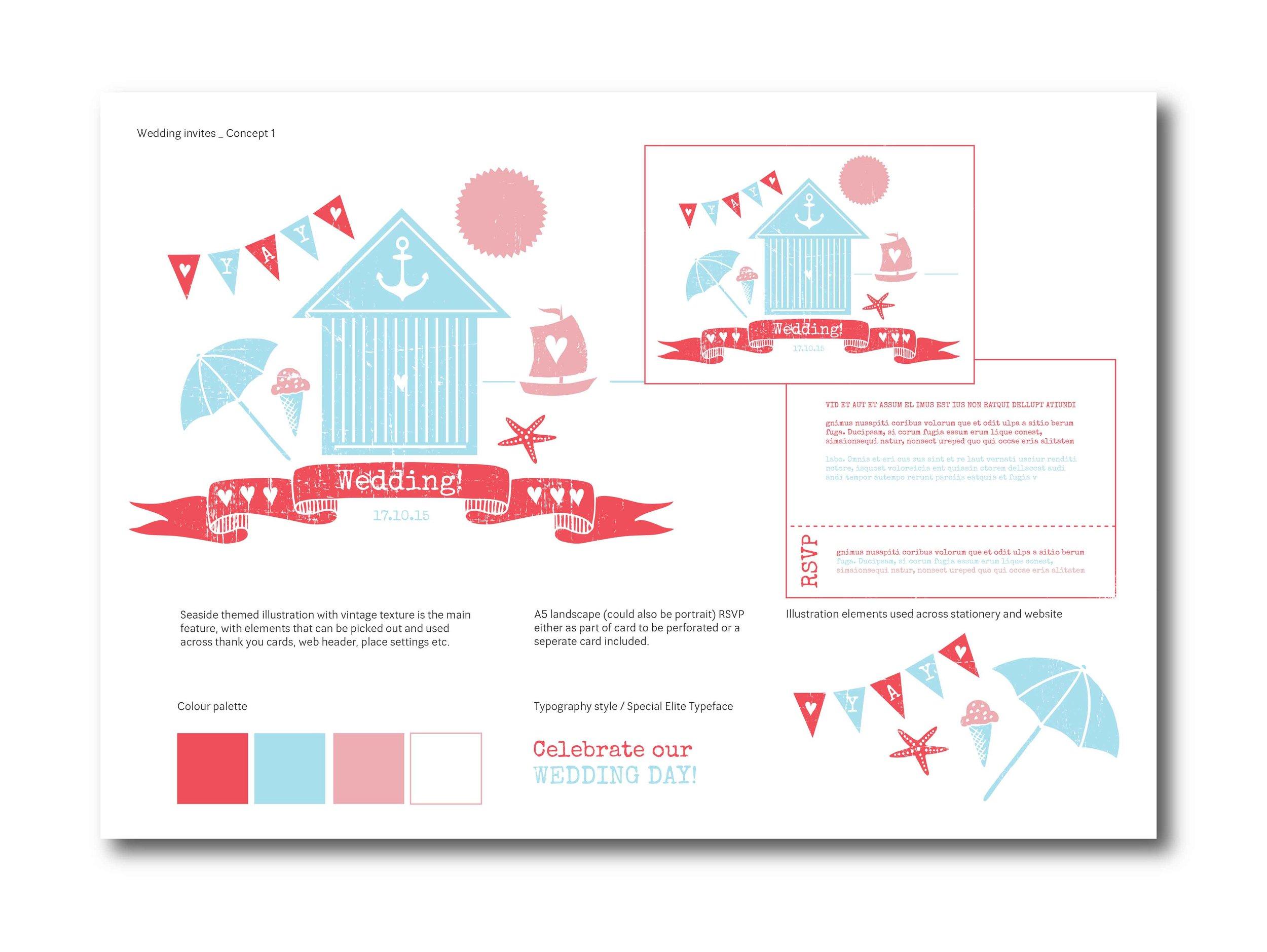 Seaside wedding / Concept sheet 1