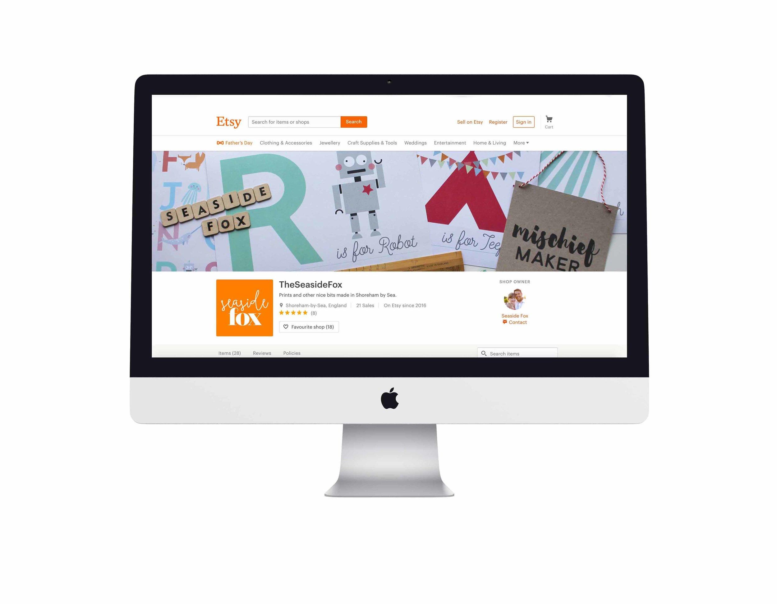 Seaside Fox / Etsy webshop identity