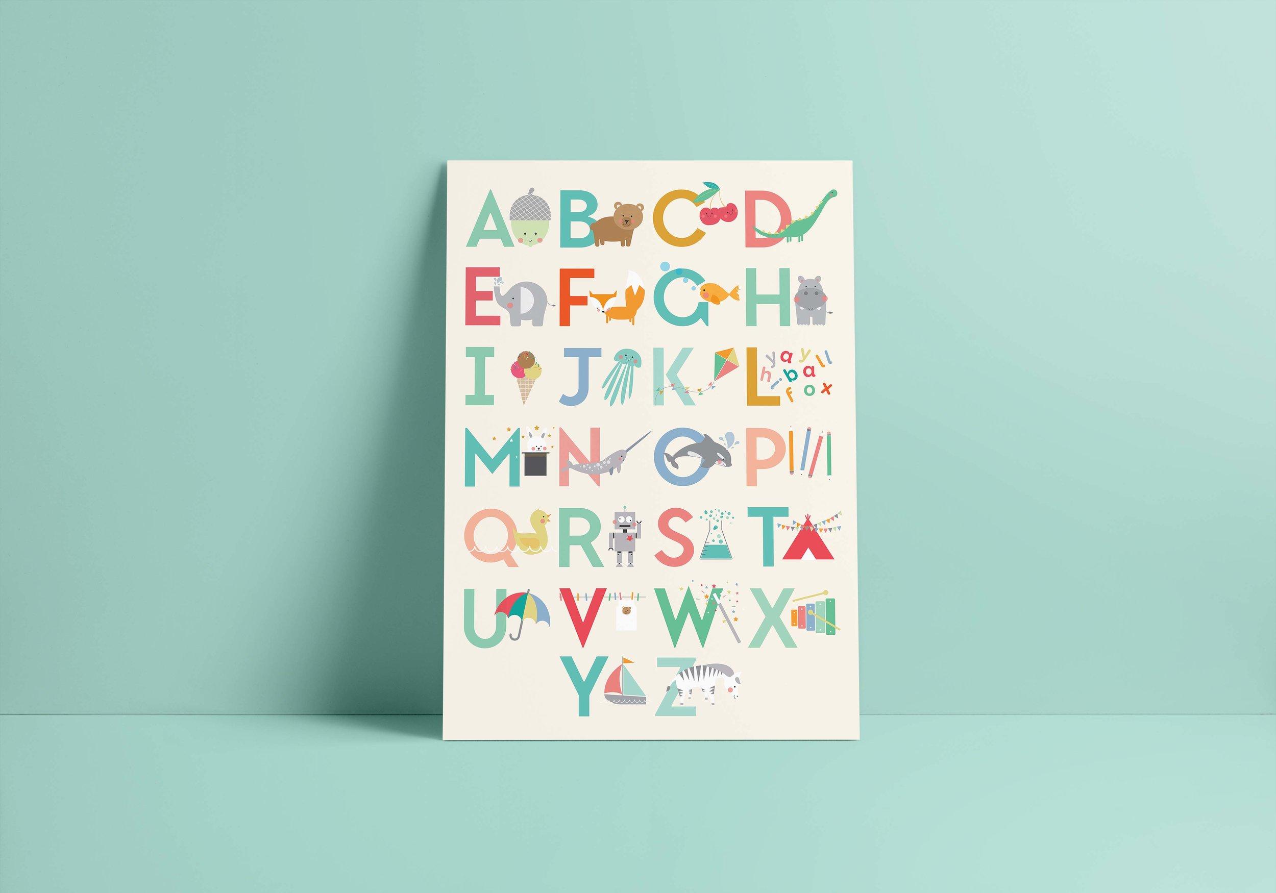 Seaside Fox / Alphabet print