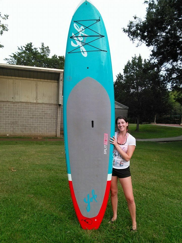 Kaci Wall and her SUP