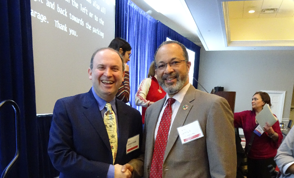 Maryland Disability Summit keynote speaker Dr. Jonathan Lazar with IDPP' Executive Director Dr. Derrick Cogburn.