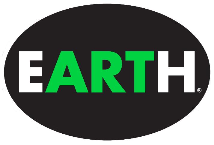 4 x 6 vinyl oval EARTH sticker