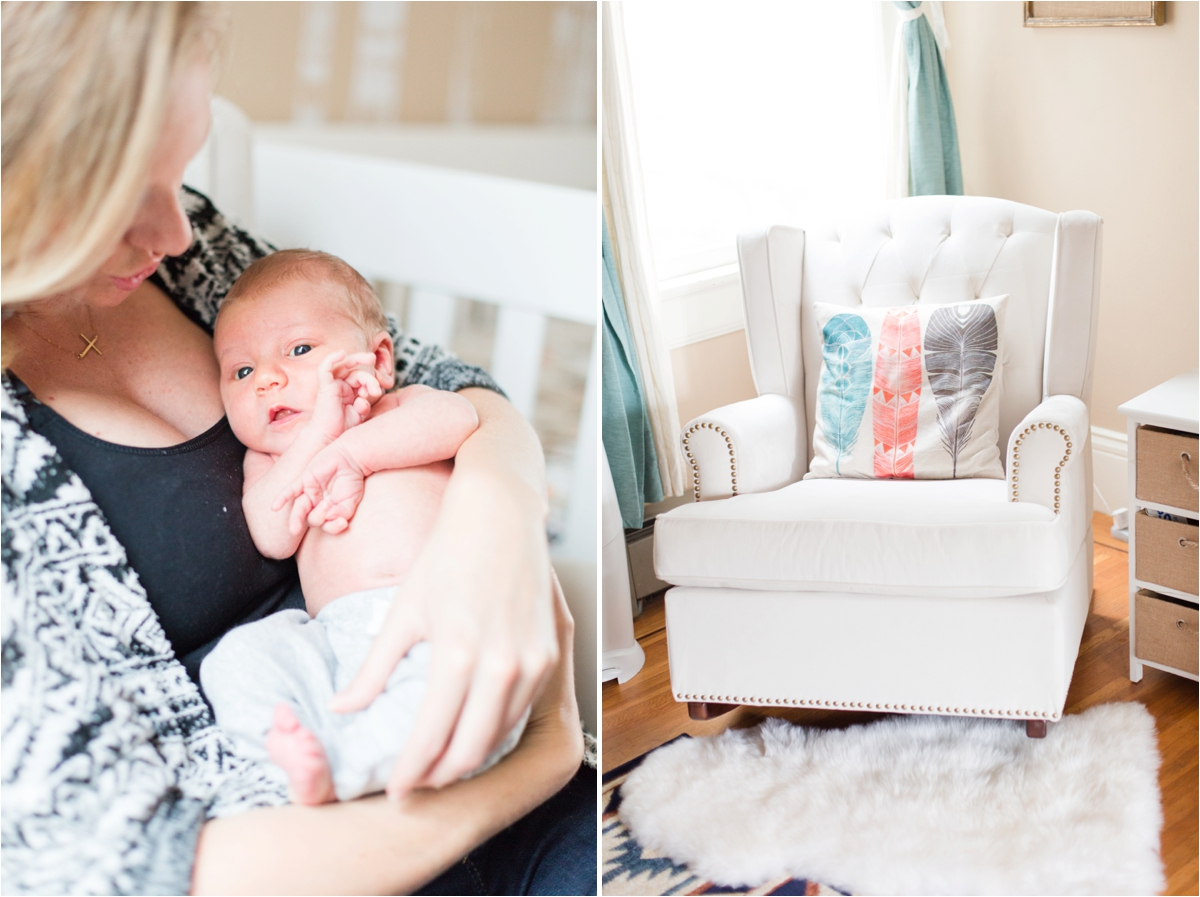 Lifestyle in-home newborn session in San Francisco, CA. Photos by Briana Calderon Photography based in the San Francisco Bay Area in California.