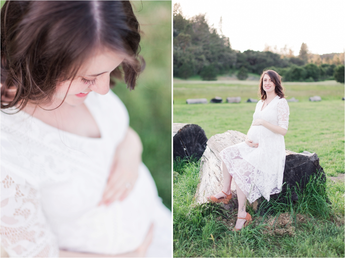 Rustic maternity portraits at Quail Hollow Ranch in Felton, CA. Photos by Briana Calderon Photography based in the San Francisco Bay Area, California.
