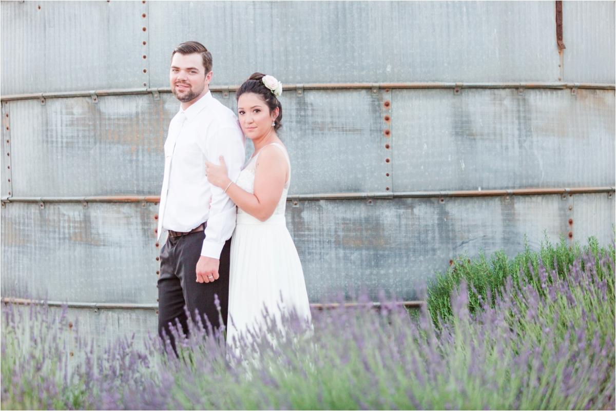 Wedding photos at Pageo Lavender Farm in Turlock, CA. Photos by Briana Calderon Photography based in the San Francisco Bay Area in California.