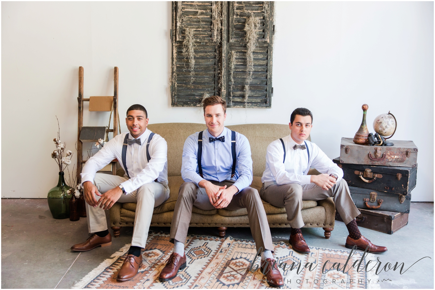 Dapper bachelor party inspiration styled shoot. Photos by Briana Calderon Photography.