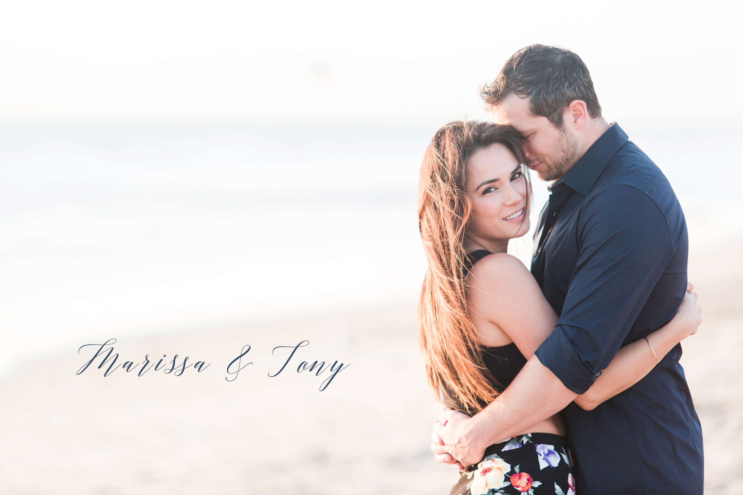 LA Beach Engagement pictures. Photos by Briana Calderon Photography.