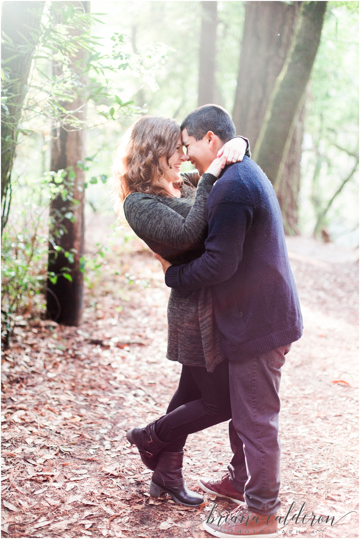 Engagement pictures at Henry Cowell Redwoods in Felton, CA by Briana Calderon Photography_1342.jpg