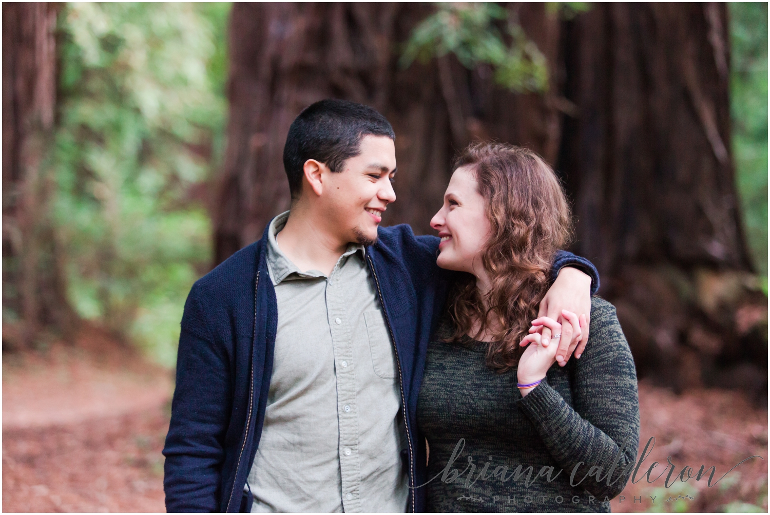 Engagement pictures at Henry Cowell Redwoods in Felton, CA by Briana Calderon Photography_1328.jpg